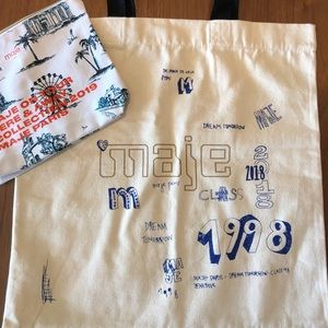 Maje Tote large bag and pouch
